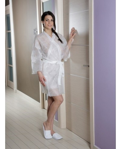 Kimono eco en non tissé blanc