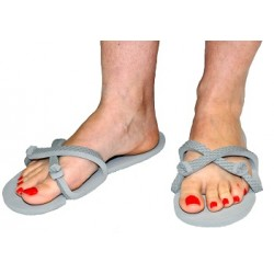 Sandale gris clair