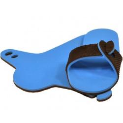 Mule chocolat / bleu