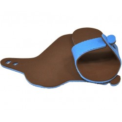 Mule bleu / chocolat
