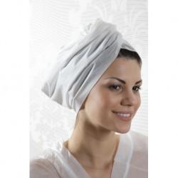 serviette blanche en ouate sèche 45x80cm