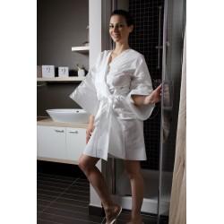 Peignoir de bain jetable femme blanc